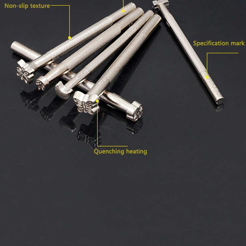 20 шт./компл. новые кожаные инструменты рабочий седло делая набор резьба ремесло штампы Удар DIY