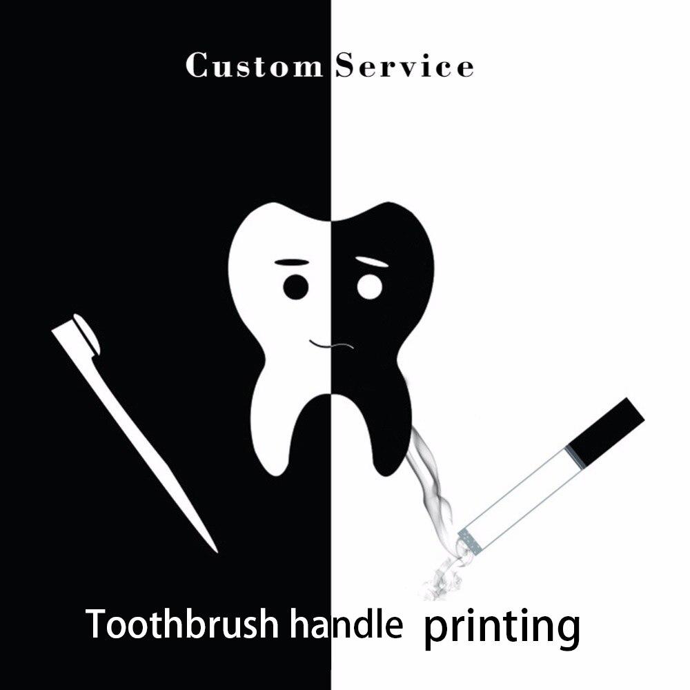 100ピースカスタマイズされた印刷ロゴoemサービス竹歯ブラシハンドル最小数量歯ブラシロゴ13スタイル利用可能  グループ上の 美容 & 健康 からの 歯ブラシ の中 1