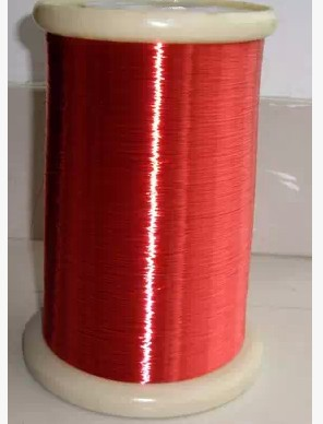 <font><b>1000</b></font> m Free shipping <font><b>0.1</b></font> mm red new polyurethane enameled copper wire flying lead QA-1-155 image