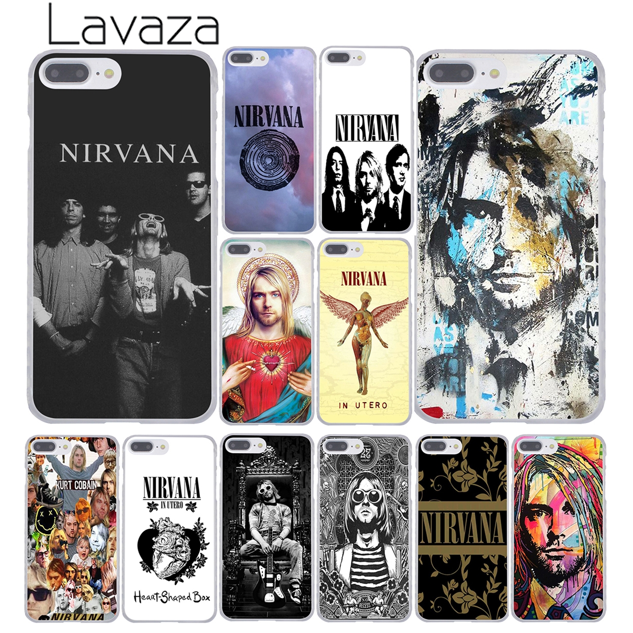 Lavaza Nirvana Kurt Cobain Hard Cover Case for Apple iPhone 8 7 6 6S Plus 5 5S SE 5C 4 4S X 10 Coque Shell