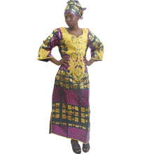 MD 2019 new africa dresses plus size african for ladies bazin dress traditional head wraps women clothing