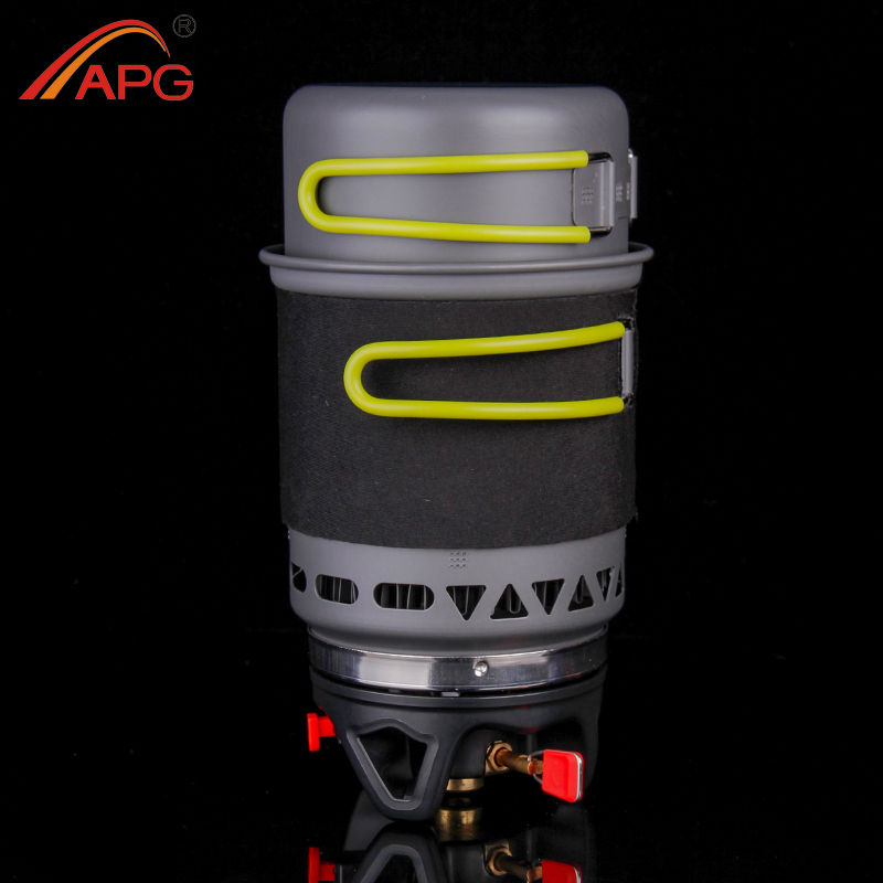APG Camping utensilios de cocina olla sartén vajilla combinación de sistema de cocina de Gas cocina al aire libre estufa de Gas portátil quemadores de propano