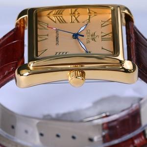 Image 3 - חדש SEWOR מלבני יוקרה גברים שעונים למעלה מותג אוטומטי מכאני צפו רומי עתיק תצוגת שעון Relogio שעון יד