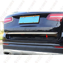 цена на Steel Rear Door Truck Molding Cover Trim For Mercedes-Benz GLC Class X205 2016 2017