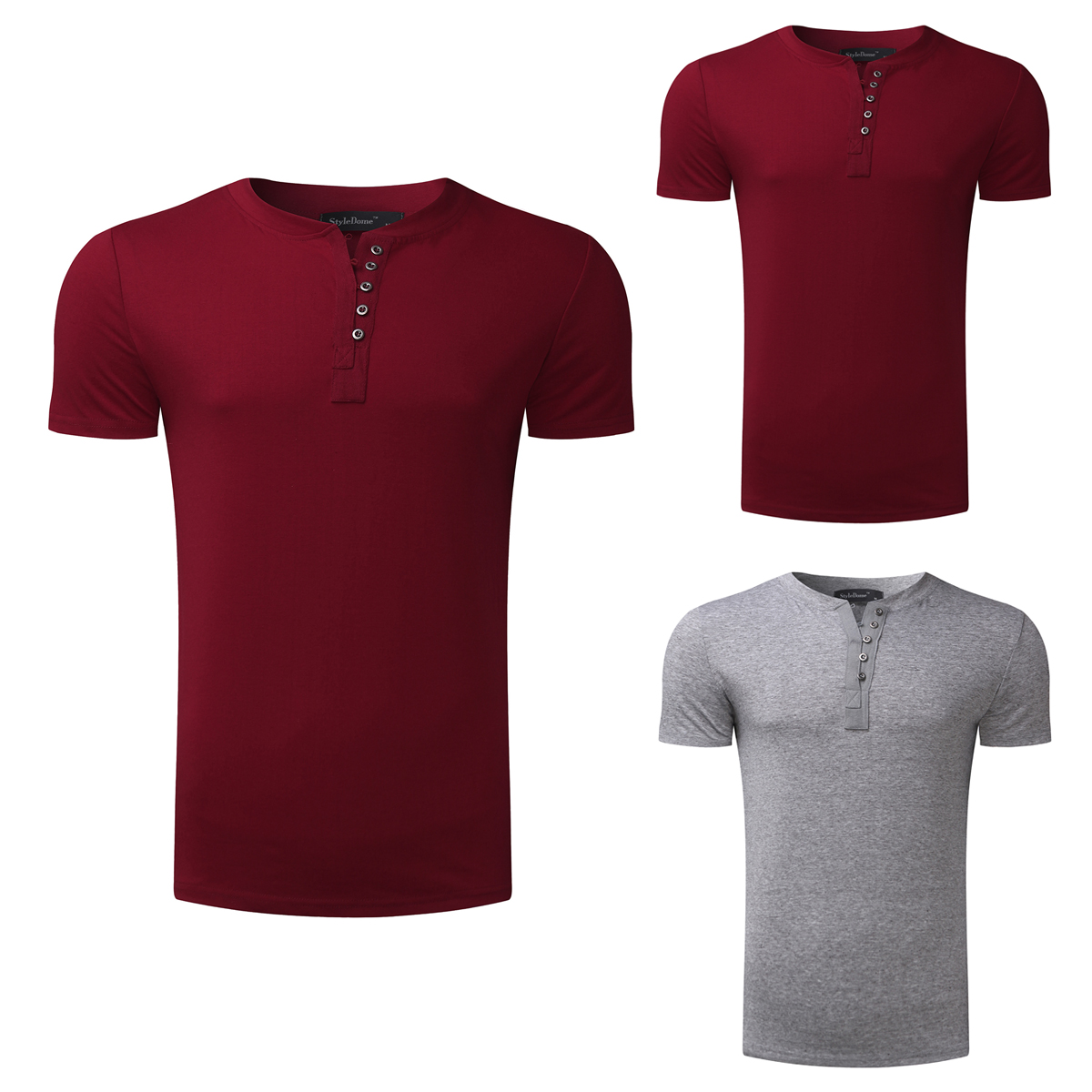 70a6ef0ef 2018 Men's T shirt Henley Shirts Casual Muscle Tee Short Sleeve Pullover  Tshirt Men Clothes Fashion Slim Fit Male Top 3XL Hombre-in T-Shirts from  Men's ...