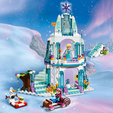 316pcs Dream Princess Elsa Ice Castle Princess Anna Friends Model Building Blocks Set Toys for Girl Gift Compatible Legoed 41062 203pcs friends vet clinic princess anna and kristoff s sleigh model set building blocks friends gifts toys princess