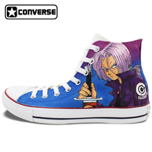 Original Converse All Star Women Men Shoes Dragon Ball Z Design Custom Hand Painted Sneakers Anime Cosplay Christmas Gifts