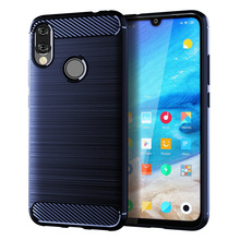 for xiaomi redmi note7 pro case silicone carbon fiber cell phone anti knock back cover cases