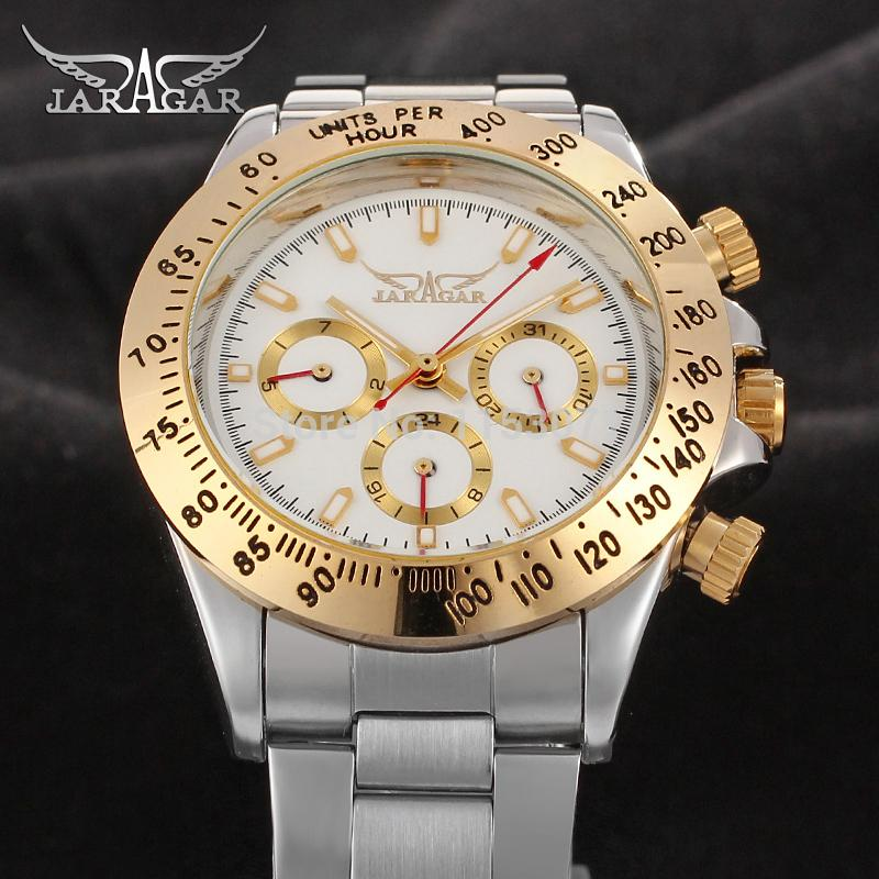 JAG6903M4T1  new popular Jargar  Automatic men watch factory stainless steel band best price free shipping with  gift box