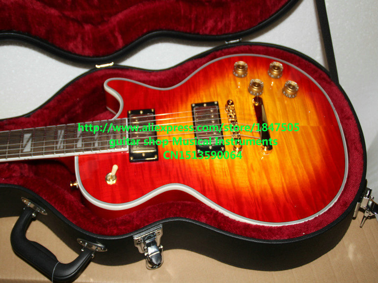 2019 New Style Cherry Burst Custom Shop Electric Guitar Mahogany Body With Case High Quality Wholesale Guitars