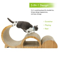 Multi functional Cat Scratcher Durable Removable 3 in 1 Design Cat Scratching Pad Healthy Cat Claws Protect Furniture Cat House