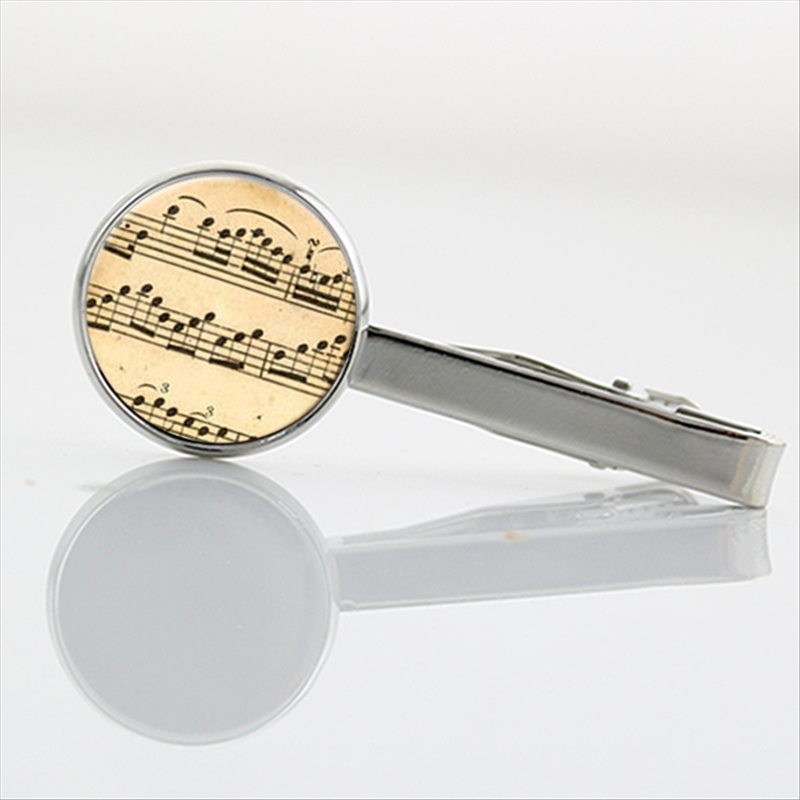 New Elegant Music Sheet Notes Tie Clips Men jewelry vintage Math Pi number Tie pin chemi ...