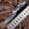 שני שמש TS35 מיני סנפיר כדור brearing M390 להב מתקפל סכין titanium קמפינג ציד חיצוני הישרדות סכיני EDC כלי|סכינים|כלים -
