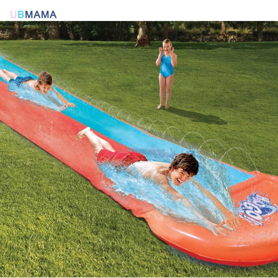 Высокое качество двойная Роскошная водная горка аквапарк открытый пляж игрушки надувная горка кровать детская игра с водными игрушками
