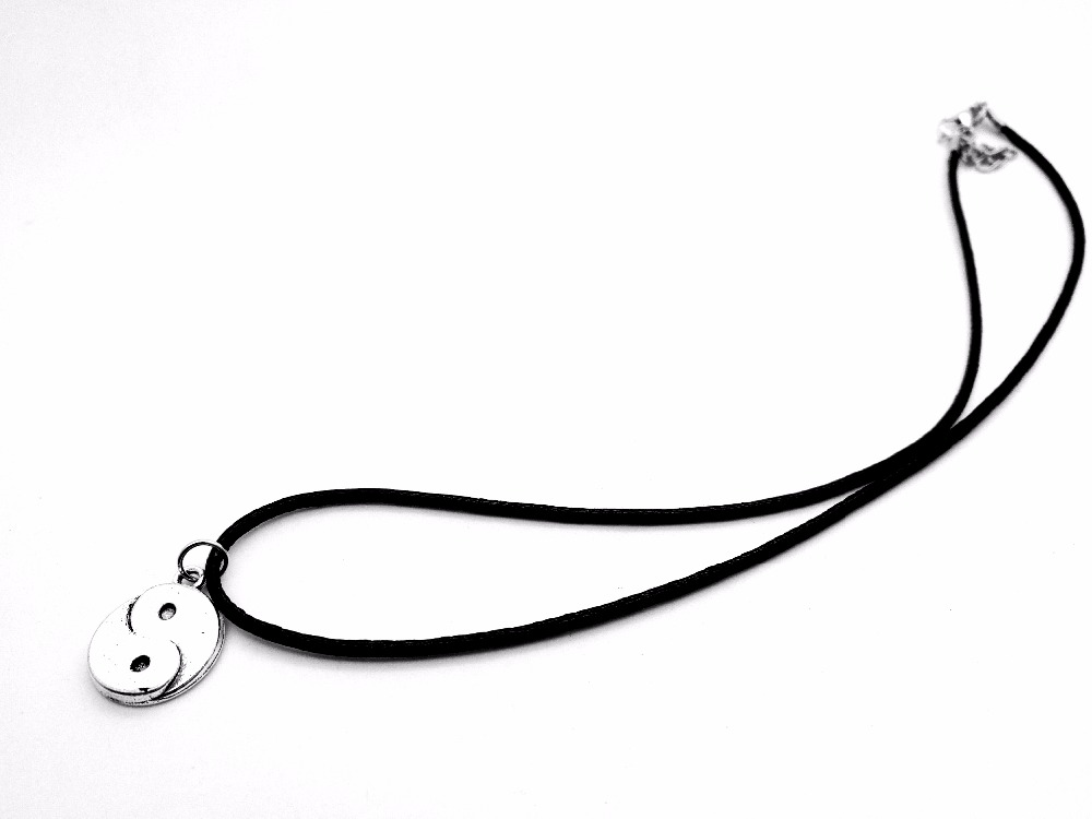10PC Cute Chinese style Taiji Bagua pendant Necklace Skyrim Fantastic Ying Yang Tai Chi Gossip Leather Rope Necklaces