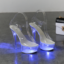 Light Up Glowing Shoes Woman Luminous Clear Sandals Women Pl