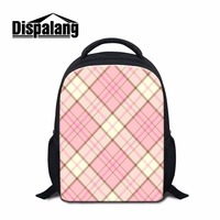 Dispalang Summer Cute Pink School Backpack For Nursery Baby Little Girl Kindergarten Satchel Elementary Student Plaid