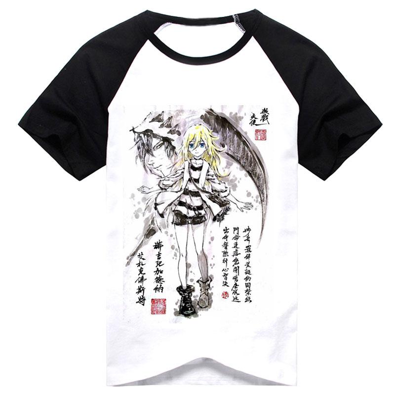 tinkerbell Cartoon Anime Print  Short Sleeve Round Collar T-Shirt