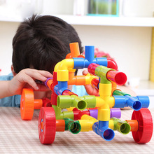Plastic Spelling Assembled Pipe Building Blocks Children's Assembled Toys 3 Years Old Children's Day Gifts