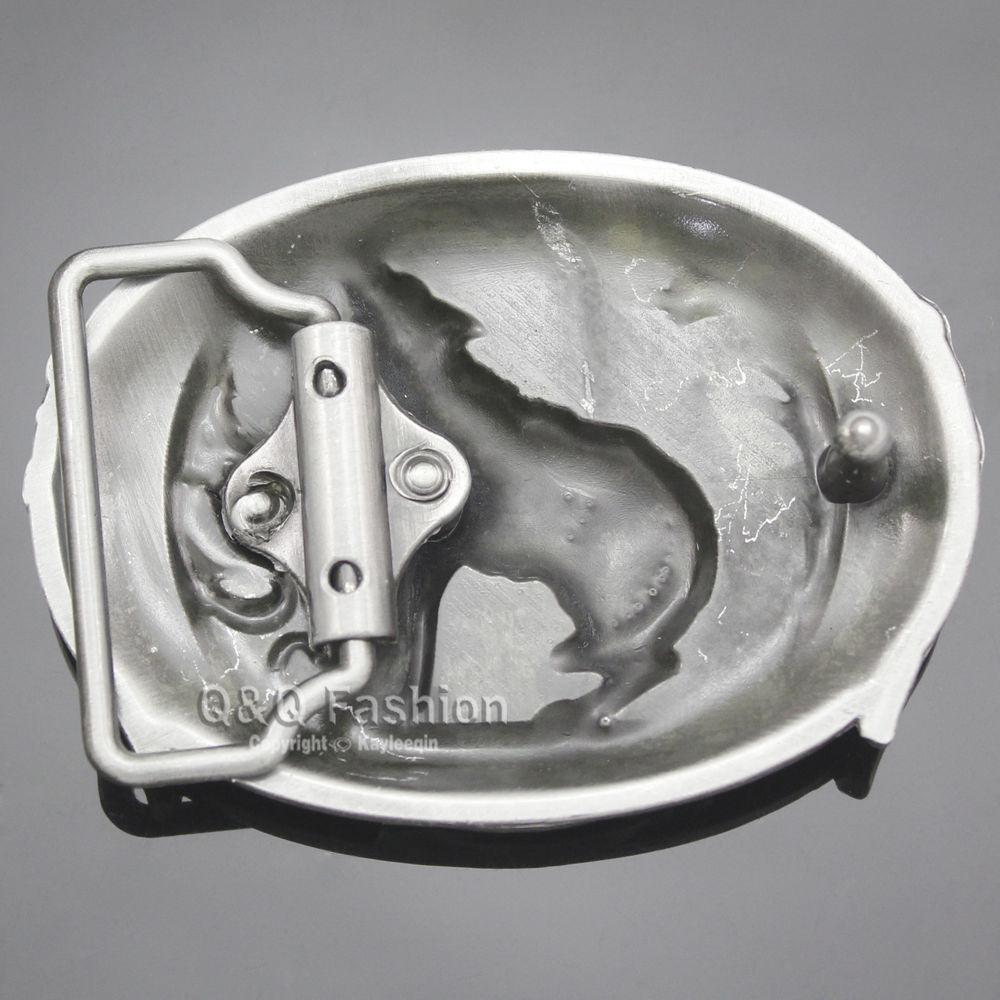 Bison Designs Crescent noir boucle argent Ceinture-Coyote brown