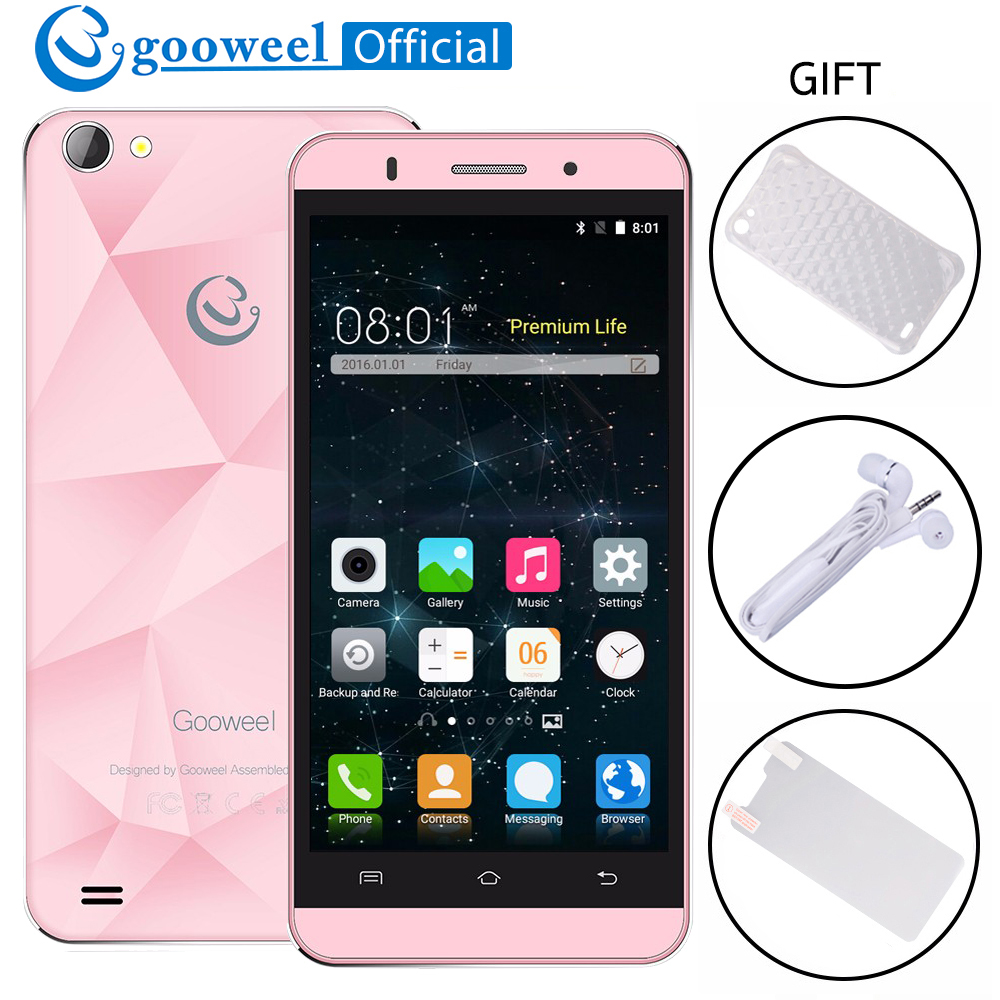 Original Gooweel M5 Pro Smartphone MTK6580 Quad core 5 inch IPS Screen Mobile Phone Android 5.1 5MP+8MP Camera GPS 3G Cell phone