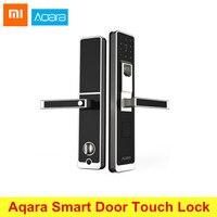 Original Xiaomi Aqara Smart Door Touch Lock ZigBee Connection For Home Security Anti Peeping Design Support