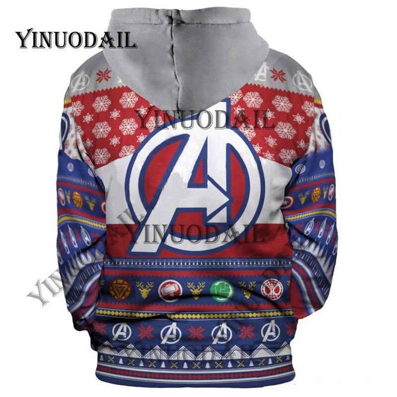 55d66eb9 YINUODAIL Venom Spiderman 3D Printed Hoodies Captain America Chrismas  Cosplay for Men Sweatshirt for Marvel Deadpool Movie Fans   Shop JZY