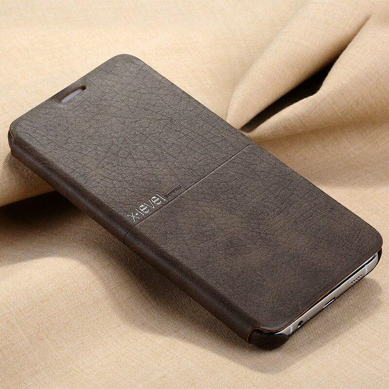 imágenes para X Nivel Nueva Caja Del Teléfono de Cuero Para Samsung Galaxy Note 5 Flip Ultra thin Cubierta de Protección Completa Para Samsung Note5