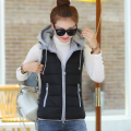 Feather Cotton Vest 2016 Female New Winter Short Slim Size Thin Thick Cotton Vest Vest Dress Women Vest Gilet Femme Wholesale