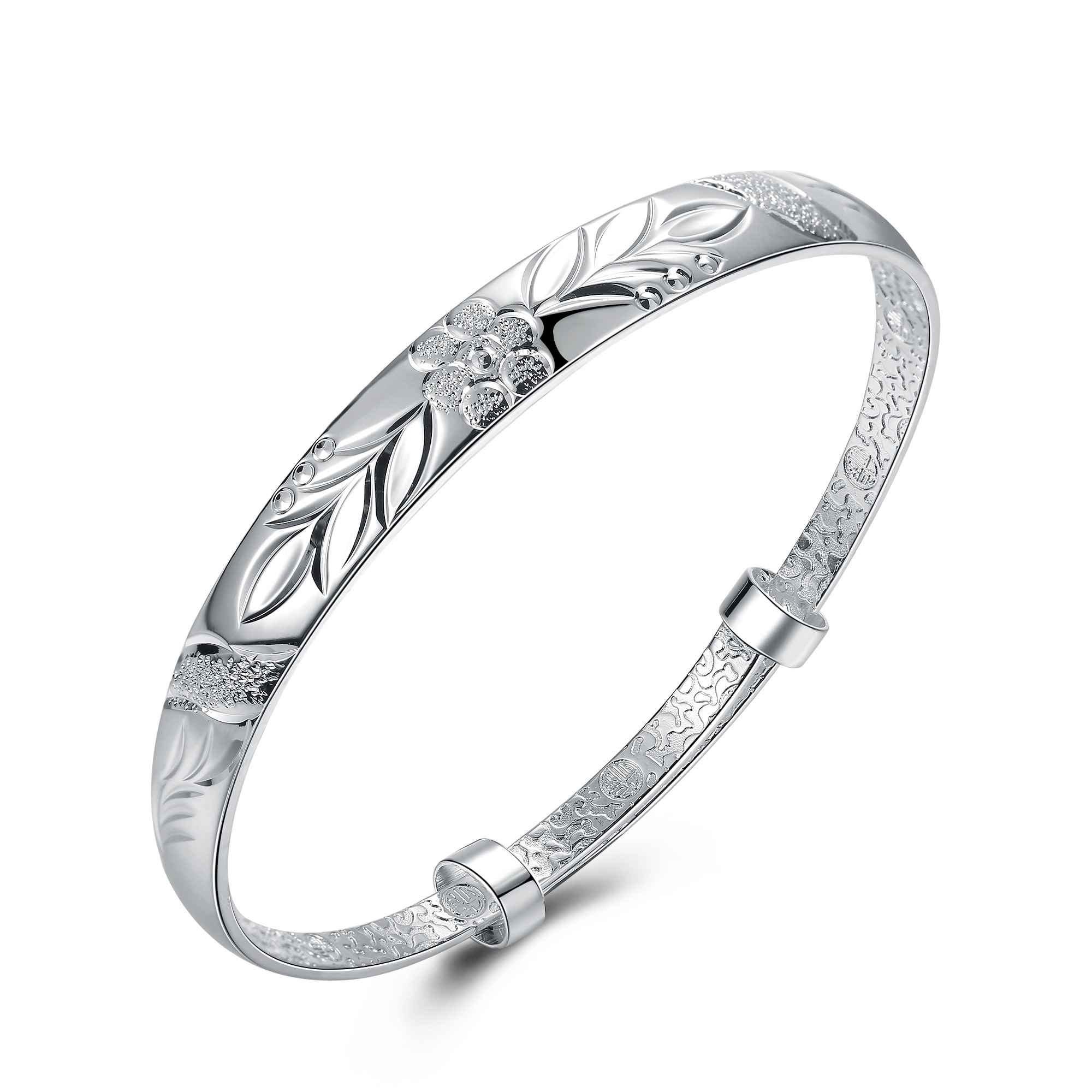 Hot Sell Fashion Silver Plated Fashion Bangle Bracelet For