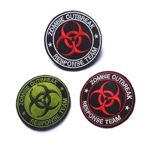 3D Embroidery armband Loop And Hook Zombie Outbreak Response Team Embroidery armband  tactical  team  Chest Patch outbreak