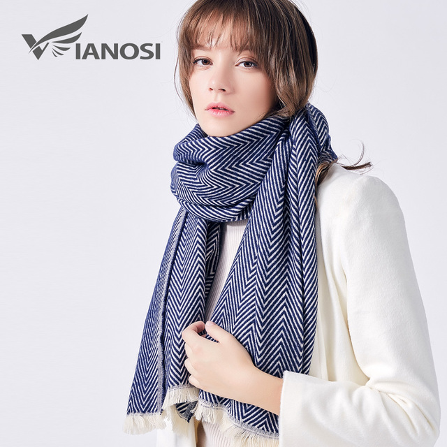 VIANOSI Famous Brand Winter Scarf Women sjaal Cotton cape Thicken Warm Soft Shawls Mujer Fashion bandana VA210