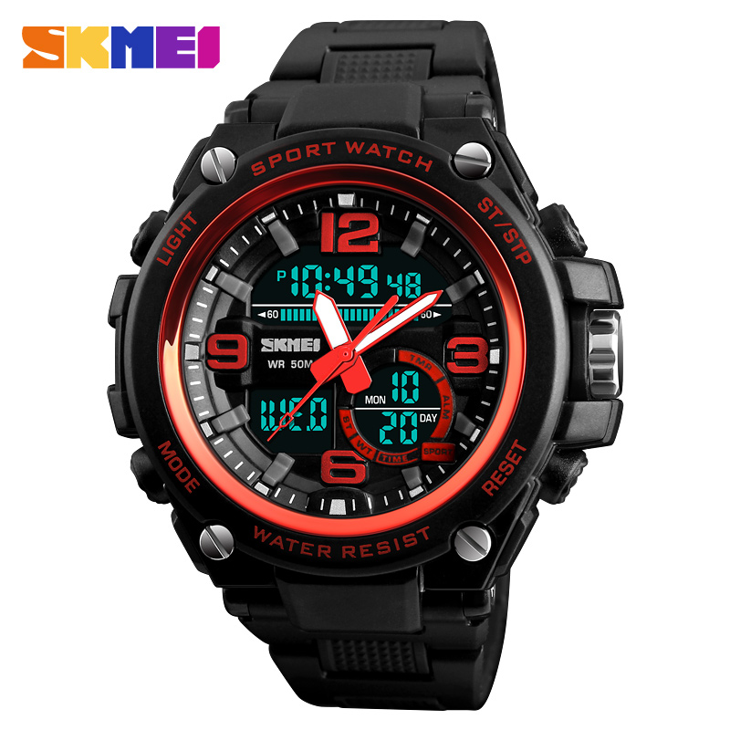Military Sports Watches Luxury Big Dial Analog Quartz Digital Watch Men Waterproof Wrist Watch Man Clock Relogio Masculino SKMEIMilitary Sports Watches Luxury Big Dial Analog Quartz Digital Watch Men Waterproof Wrist Watch Man Clock Relogio Masculino SKMEI