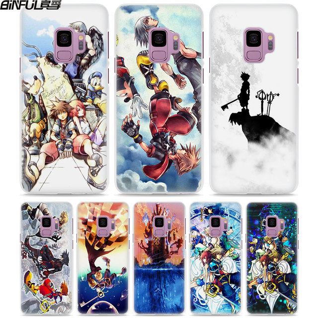 new product 223bf 21c09 US $2.99 |BiNFUL Anime Kingdom Hearts style White hard Phone Case Cover for  Samsung Galaxy S9 S9Plus S8 Plus S6 S7 edge Note 8 5-in Half-wrapped Case  ...