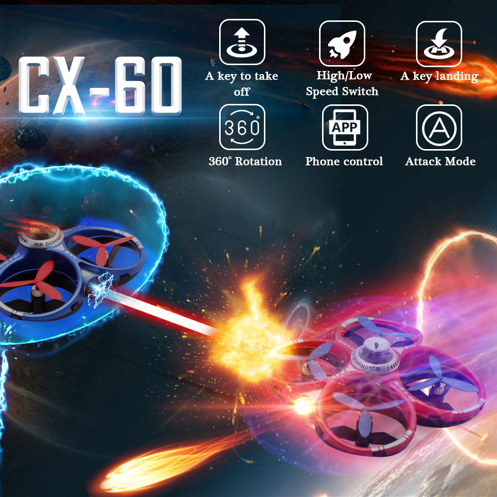 Cheerson CX-60 Air Dominator 2 in 1 Versus Mode Drone 2.4G 6-Axis Gyro G-Sensor RC Quadcopter Toys Remote Control Helicopter cheerson cx30w cx 30w fpv wifi smart remote control drone led rc helicopter quadcopter aircraft air plane toy kids gift toys
