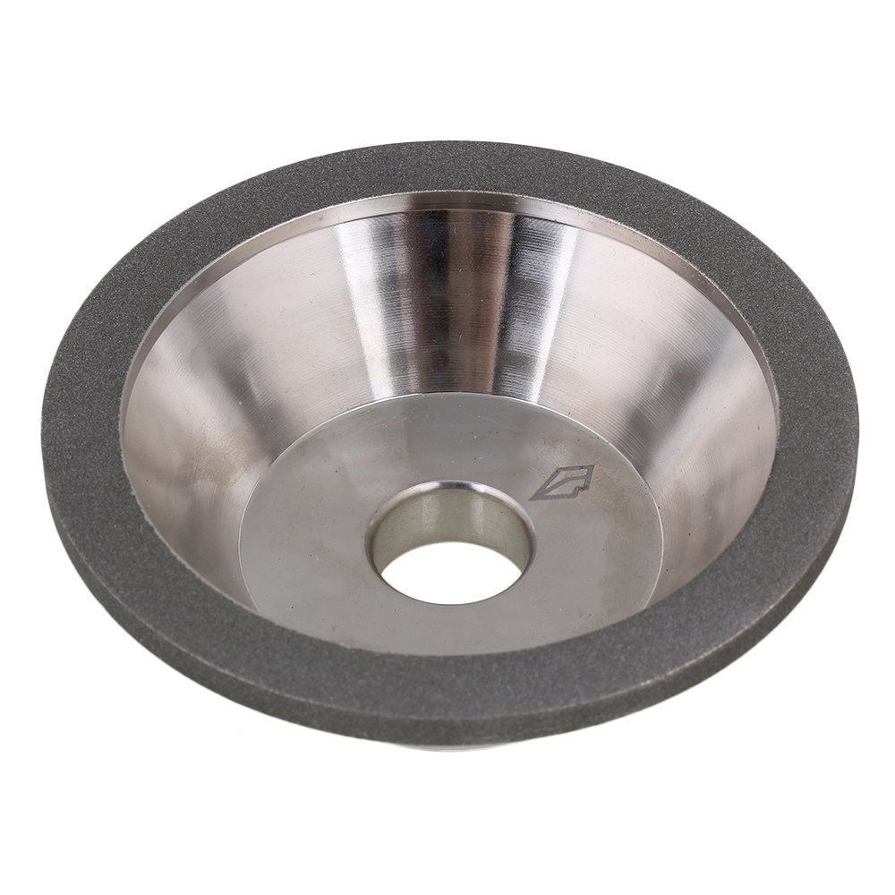 400# Grit Cup Bowl Shape Silver 100x35x20mm  Electroplate Diamond Manganese Steel Grinder Grinding Wheel Cutter Cutting Tool