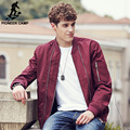 Pioneer Camp 2017 New Arrival Spring Men's Jackets Solid Fashion red Coats Male Casual Slim  fit Stand Collar Jacket Overcoat