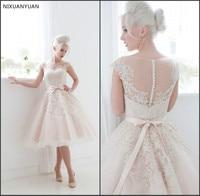New 2019 Short Wedding Dresses The Bride Sexy Lace Wedding Dress Bridal Gown Plus Size Weddings Ivory Vestido De Noiva