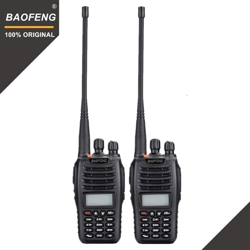 2 pièces Baofeng UV-B5 talkie-walkie 199 canaux Radio bidirectionnelle UHF VHF longue portée portable FM HF émetteur-récepteur Radio jambon Comunicador