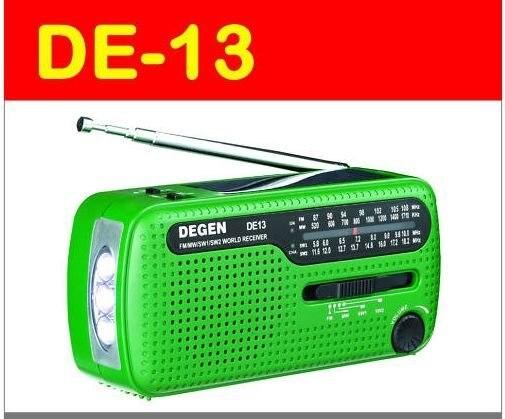 2 шт./лот DEGEN DE13 FM/AM/SW Рук Сгибая + Солнечной Энергии Радио