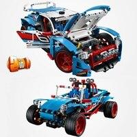 Техническая серия городской ралли гоночный спортивный автомобиль строительные блоки Наборы комплекты кирпичей классическая модель детск