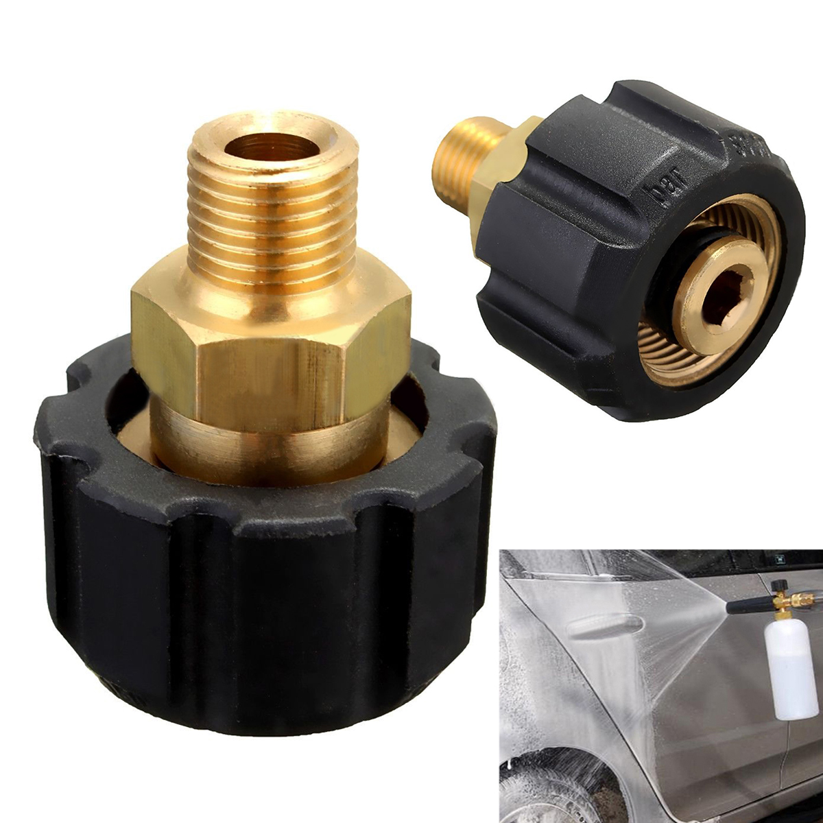 High Quality Car Pressure Washer Coupling Adaptor Connector Mayitr Spray Gun Fittings For HDS & HD M22F Snow Bubble Foam Lance high quality high quality car washer gun 35mpa 350bar 5000psi high pressure washer gun spray water gun