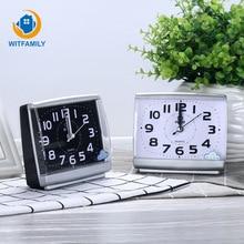 Modern Square Alarm Clock Bedroom Desktop Bed Wake Up Clocks beside student Plastic Silent Sweeping Small table Clock