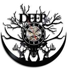 1piece Creative Design Vinyl Record Clock Frameless CD Wall Clock  For Gift Home Decoration