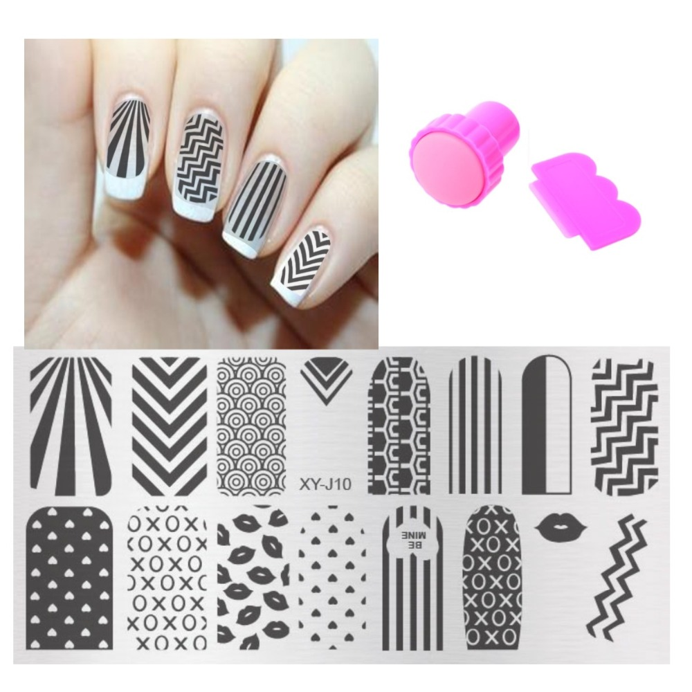 1set New Beauty Image Pattern 16 Design For Choose Nail Art Stamp Plates Sets Diy Stamper Ser Manicure Stencil Template In Templates From