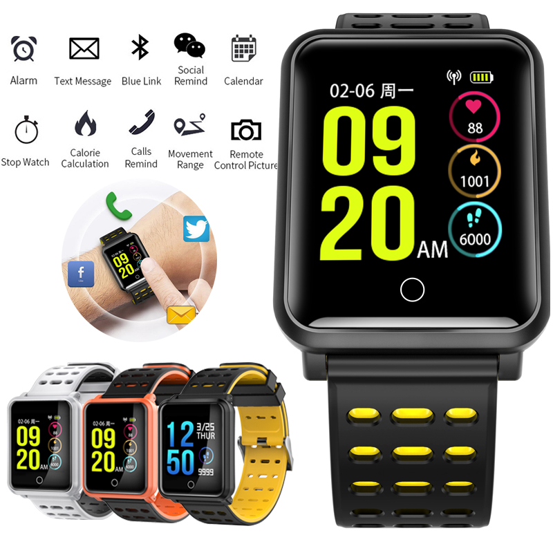 MNWT Sport Smart Watch N88 IP68 Waterproof Activity Fitness Tracker Heart Rate Monitor Smartwatch Band for Android and IOS Phone|Women's Watches| |  - title=