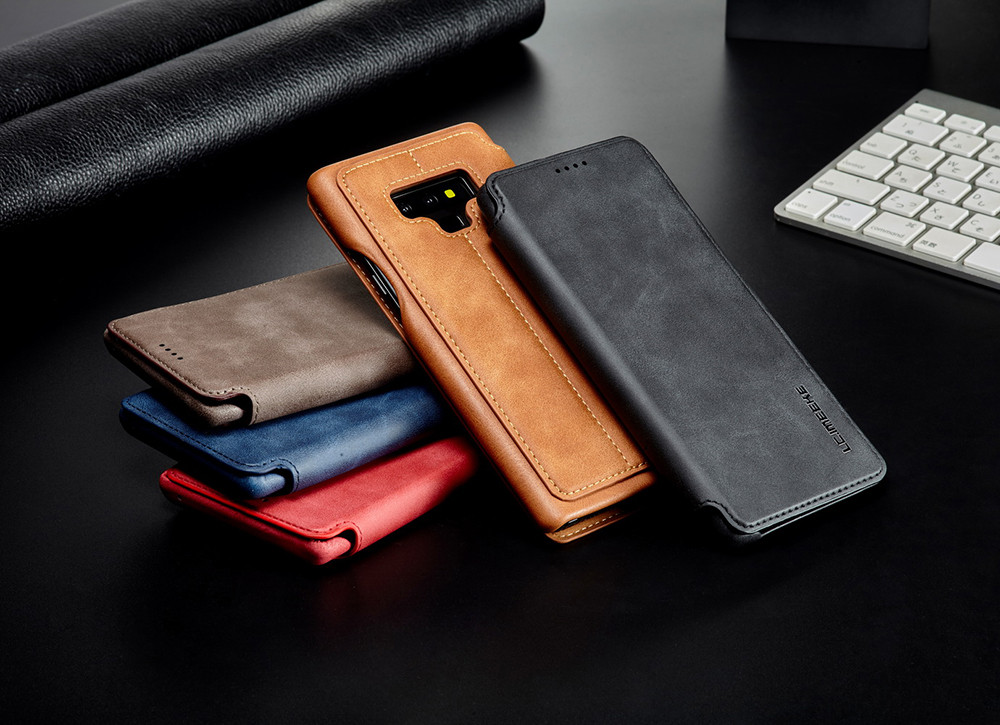 For Samsung Galaxy S10 Plus S10e Flip Leather Case Cover For Samsung Note 9 Card Slot Stand Holder Phone Cases Magnetic Funda