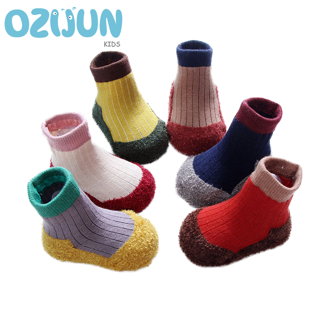 74ea039ad67e One Pairs 0 12 12 24M Baby Boys Girls Coral Fleece Sole Winter ...