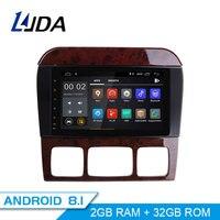 LJDA 2 Din Android 8,1 радио автомобиль Mercedes Benz W220 W215 S280 S320 S350 S400 S500 CL600 S класса мультимедиа стерео аудио gps
