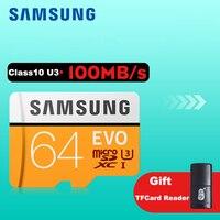 כרטיס זיכרון מיקרו SD 32 GB Class10 סמסונג EVO בתוספת 256 GB 128 GB 64 GB 16 GB SDHC/SDXC UHS-I כרטיסי TF פלאש Memoria עבור טלפון נייד